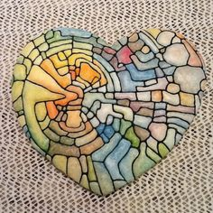 The Hungry Hippopotamus: Stained glass heart Fancy Cookies, Heart Cookies, Stained Glass Cookies, Christian Symbols, Glass Artwork, Edible Art, Heart Art, Just Amazing, Cookie Decorating
