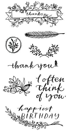 Stamps - these would be cute to use on linen or cotton favor bags!