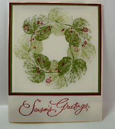 Using french foliage stamp set