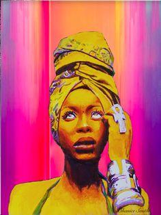 Erykah Badu Painting Art Print by ShaniceGotJuice - X-Small Painting Art, Paintings, Cheap Gucci, Hip Hop Art, Black Art, Shirt Ideas, Art Inspo, Art Prints, Board