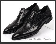 Free shipping Hightop new 2014 vintage men's oxfords genuine leather business leather shoes mens pointed toe dress shoes 38-45 $351.00