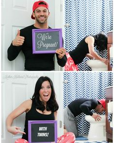 Twin Pregnancy Announcement this was so Mike when we found out!!!!