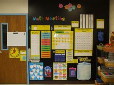 saxon math wall - got me thinking about different parts of the room for different lessons....