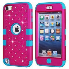iPod Touch Case, KAMII 3 Layers Verge Hybrid Soft Silicone Hard Plastic Triple Quakeproof Drop Resistance Protective Case Cover for Apple iPod Touch 5 Generation (Rose Blue) Ipod Touch 6 Cases, Ipod Touch 6th, Ipod Touch 5th Generation, Color Glaze, Iphone Accessories, Stylus, Protective Cases, Iphone Cases, Dots