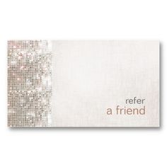 Modern and Hip Sequins Refer A Friend Coupon Salon Business Card Template $24.20