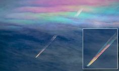 Photographer Captures Stunning Rainbow Contrails Lovely, Unique and Special. ☺❤💛💚💙🌈🌈🌈🌈🌈🌈🌈