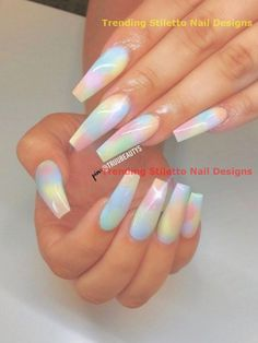 Looking for a whole new nail look? Coffin acrylic nails are a must try this year. We've rounded up 40 of the best acrylic nails coffin ideas for you. Summer Acrylic Nails, Best Acrylic Nails, Acrylic Nail Designs, Nail Art Designs, Acrylic Nails Pastel, Coffin Acrylic Nails Long, Crazy Nail Designs, Coffin Acrylics, Clear Acrylic