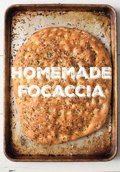 Last Minute Vegan Holiday Food Gift: Homemade Focaccia Bread from Food Swap
