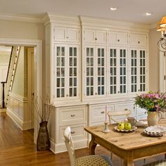 Love This Built In Cabinet Design And Color For The Open Wall Shared With Dining