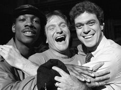 Eddie Murphy, Robin Williams, Joe Piscopo -- he always had a smile ten times bigger and happier than everyone else in the same photo