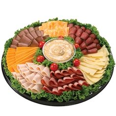 pictures of deli meat and cheese trays Meat Cheese Platters, Deli Platters, Deli Tray, Meat Trays, Meat Platter, Food Platters, Fruit Trays, Party Trays, Party Snacks