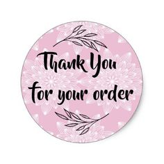 Get your hands on great customizable Business stickers from Zazzle. Thank U Cards, Business Thank You Cards, Thank You Customers, Thank You For Order, Logo Online Shop, Small Business Quotes, Cake Logo Design, Food Graphic Design, Thank You Card Design
