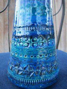 Vintage Blue Italian Art Pottery