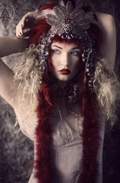 Russian Aztec Inspired Headpiece by MiaVonMink