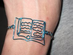 Wire Wrapped Open Book Bracelet MADE to ORDER by 1ofAkinds on Etsy, $13.00