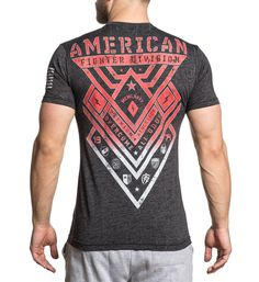 American Fighter Men's Short Sleeve Tee Red Coverstitch Up Side Seam Reflective Black Mass Black Mass, American Fighter, Short Sleeve Tee, My Style, Red, Mens Tops, T Shirt, Fashion, Moda
