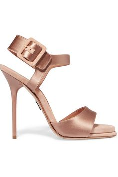 PAUL ANDREW Kalida satin and suede sandals $745