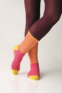 MAZE socks I designed for REGIA YARNS....it is a free pattern on ravelry.com
