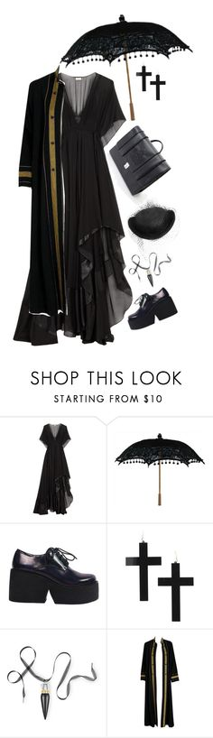 """""""Untitled #2995"""" by patpotato ❤ liked on Polyvore featuring By Malene Birger, Christian Louboutin, Thea Porter and Federica Moretti"""