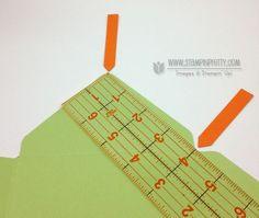 Stampin up stampinup envelope punch board liner tutorial LINER DIMENSIONS HELP - USE