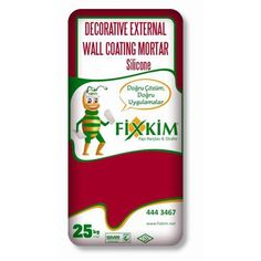 Decorative External Wall Coating Mortar With Silicone