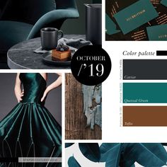 Pantone Colors: Caviar, Quetzal Green, Toffee. -- Follow Paper Couture Studio on Instagram and Facebook! @papercouturestudio --