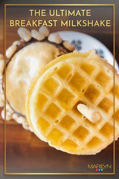 We're not claiming it's healthy, but it is definitely delicious. Good Morning Sunshine, Chocolate Hazelnut, Espresso Coffee, Milkshake, Waffles, Beverages, Breakfast, Healthy, Sweet