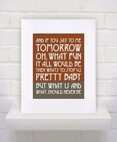 Items similar to Framed and Matted - What Is and What Should Never Be - Led Zeppelin - - Custom - Gift / Nursery / Boyfriend / Girlfriend Print on Etsy Lyric Quotes, Me Quotes, Led Zeppelin Lyrics, Lyrics To Live By, Music Lyrics, Music Hits, Sing To Me, Customized Gifts, Robert Plant