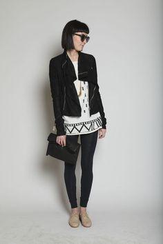 967d986684f Entire Look. Shop at Totokaelo. UZI. Disko Kimono Top. Black N White