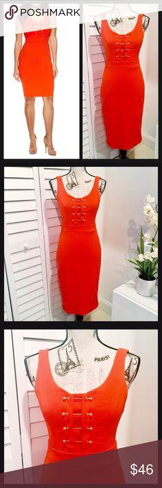 ✨NWT✨Gorgeous Tangerine Sleeveless Bodycon Dress🍁 NWT Gorgeous Sleeveless Tangerine Mini Dress🍁🍂 The fit of this dress looks amazing 👀 Dresses Mini