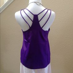 """Spotted while shopping on Poshmark: """"NWOT Strappy Purple Tank""""! #poshmark #fashion #shopping #style #Tops"""