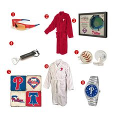 8 Great Father's Day Gift ideas for the avid Philadelphia Phillies Fan! See all of our Phillies gifts at http://www.topnotchgiftshop.com/philadelphia-phillies.html