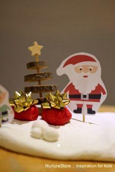 Free printable Father Christmas puppet set   NurtureStore :: inspiration for kids