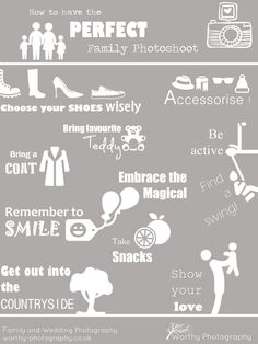 """Just a little inforgraphic from us on """"How To Have The Perfect Family Photoshoot"""" - enjoy! Family Photography Outfits, Clothing Photography, Family Pictures, Family Portraits, Style Guides, Photo Shoot, What To Wear, Heaven, Style Inspiration"""