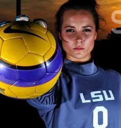 Mo Isom... Former LSU goalie trying out for the football team. Love her for her dedication and for following her dreams!
