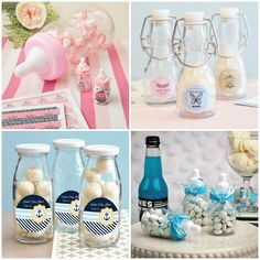 Baby Bottle Party Favors for Baby Shower from HotRef.com #babyshower #babybottle #partyfavors