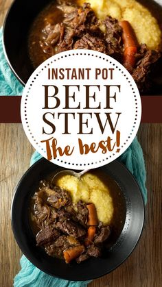 Instant Pot Beef Stew - use the Instant Pot to make beef stew that tastes like it's been simmering all day! This easy recipes is made with red wine like the classic Beef Bourguignon. Tender beef, with perfectly cooked carrots in a rich broth! Pure comfort food! Easy Recipes, Easy Meals, Steamed Potatoes, Dinner Ideas, Dinner Recipes, Cooked Carrots, Beef Bourguignon, Dried Figs, Stew
