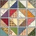 half square scrappy diamond quilt blocks