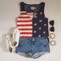 Cute Fourth of July outfit  CLICK THE PIC and Learn how you can EARN MONEY while still having fun on Pinterest