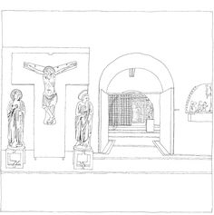 Carlo Scarpa, Museo di Castelvecchio, Verona, Italia, 1958-1975 | drawn by Riccardo Salvi