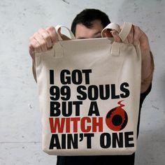 soul eater anime tote bag i got 99 souls by superorangestudio, $17.00
