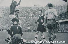 Coupe du Monde 1958 Le Brésil bat la Suède 5 à 2 avec Pelé Vava Didi