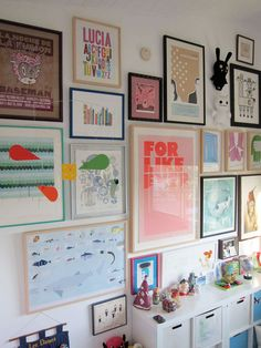 Creative Gallery Walls in Nurseries and Kids' Rooms Apartment Therapy Big Girl Rooms, Kids Rooms, Art Wall Kids, Wall Art, Home Decor Inspiration, Wall Decor, Abstract Art, Fine Art, Prints