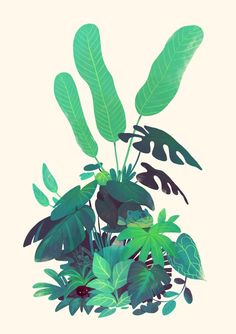 Grass Type, an art print by Monica Ion - INPRNT This is a gallery-quality giclée art print on cotton rag archival paper, printed with archival inks. Art And Illustration, Illustrations And Posters, Graphic Design Illustration, Nature Illustrations, Urbane Kunst, Plakat Design, Guache, Plant Art, Environment Concept Art