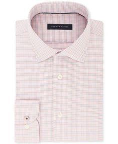 Tommy Hilfiger Men s Slim-Fit Non-Iron Performance Stretch Check Dress  Shirt Men - Dress Shirts - Macy s 9dbafc0e5a