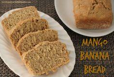 Gluten Free Mango Banana Bread baked in a solar oven