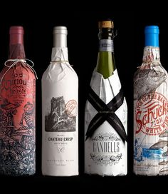 Creative Packaging, Lovely, Package, Truett, and Hurst image ideas & inspiration on Designspiration Cool Packaging, Beverage Packaging, Bottle Packaging, Brand Packaging, Product Packaging, Product Labels, Wine Bottle Design, Wine Label Design, Packaging Design Inspiration