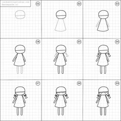 How to draw a doll.