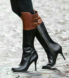 Love two tone boots.  These would be  great  to  have  step all over me