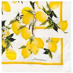 Dolce & Gabbana lemon print scarf (375 AUD) ❤ liked on Polyvore featuring accessories, scarves, white, white scarves, silk shawl, white silk scarves, silk scarves and white shawl